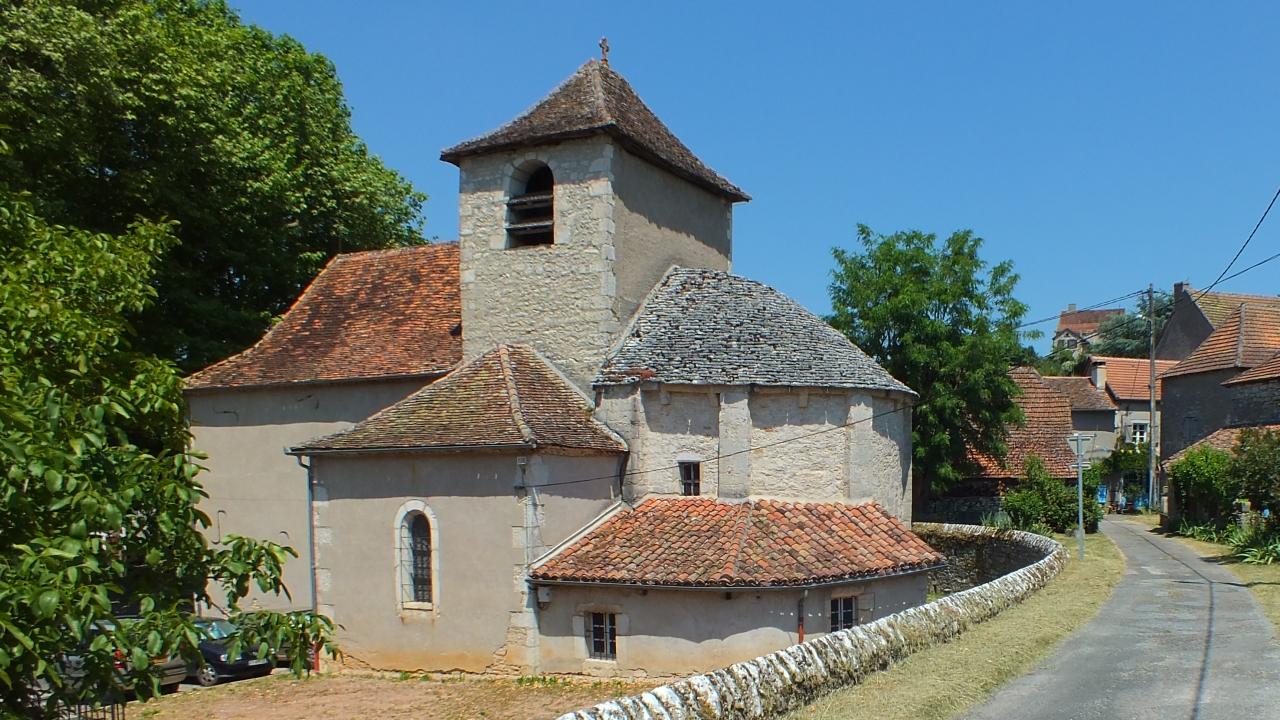 Église de Gréalou dans le Lot