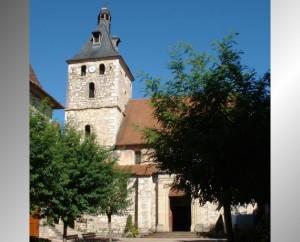 Église Saint-Etienne à Cajarc (bourg) dans le Lot