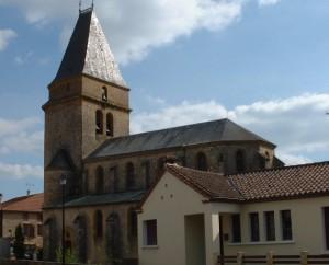 Église Sainte-Radegonde à Frayssinet-le-Gélat (bourg) dans le Lot