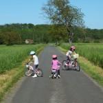 Faycelles. Parcours à vélo pour les petits