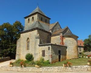 Église Saint-Pierre à Rampoux dans le Lot