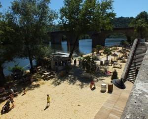 Point de baignade à Cahors-plage à Cahors dans le Lot