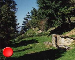 La fontaine des 2 moulins à Alvignac dans le Lot