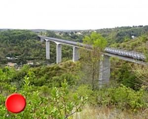 Le viaduc de Roquebilières à Cahors dans le Lot