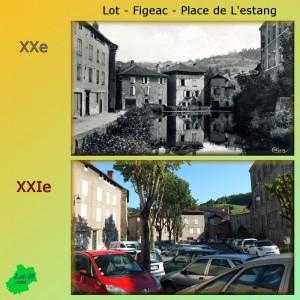 Place de l'Estang à Figeac dans le Lot