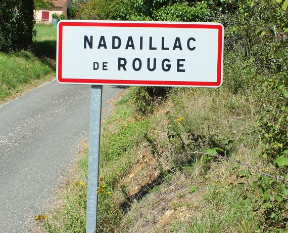 Panneau du Village de Nadaillac-de-Rouge