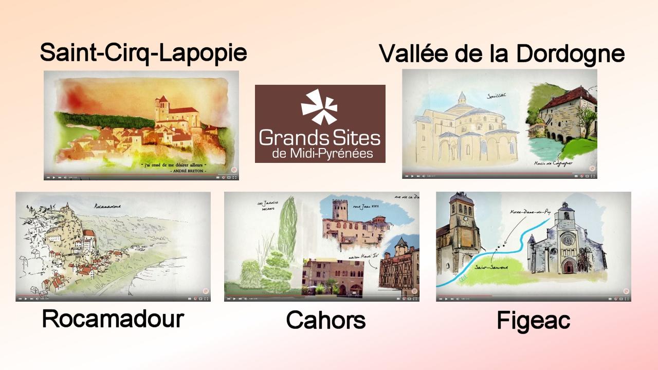 Carnets de voyage illustrés - Grands Sites Midi-Pyrénées - Lot