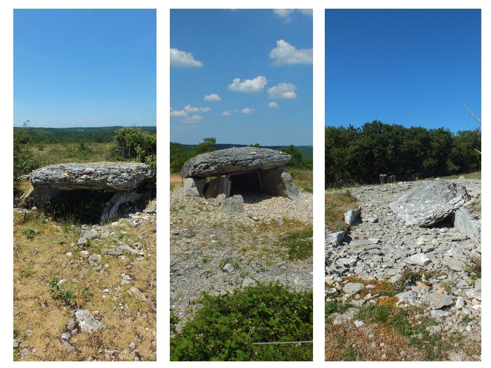 Dolmens de Pech Laglayre 1 & 2 à Gréalou dans le Lot