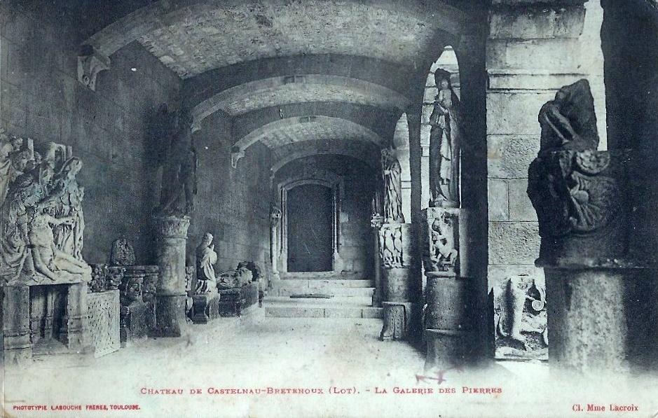 La galerie des pierres du château de Castelnau Bretenoux