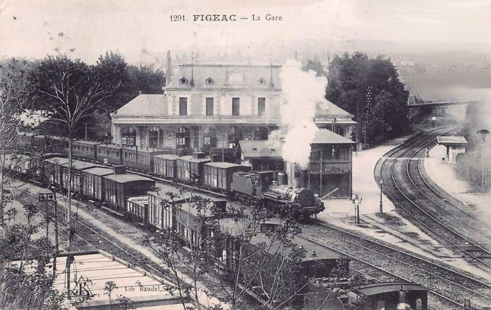 Gare ferroviaire de Figeac dans le Lot