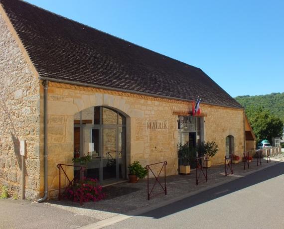La mairie de Saint-Clair dans le Lot