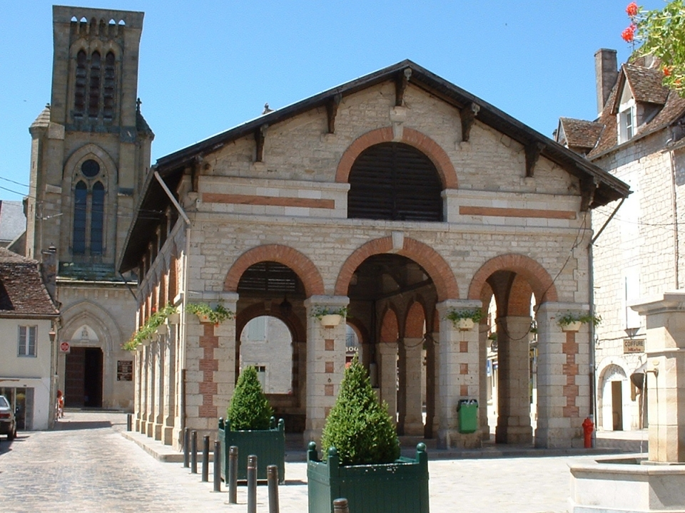 Halle du XIXe siècle à Gramat (Place de La Halle) dans le Lot (2004)