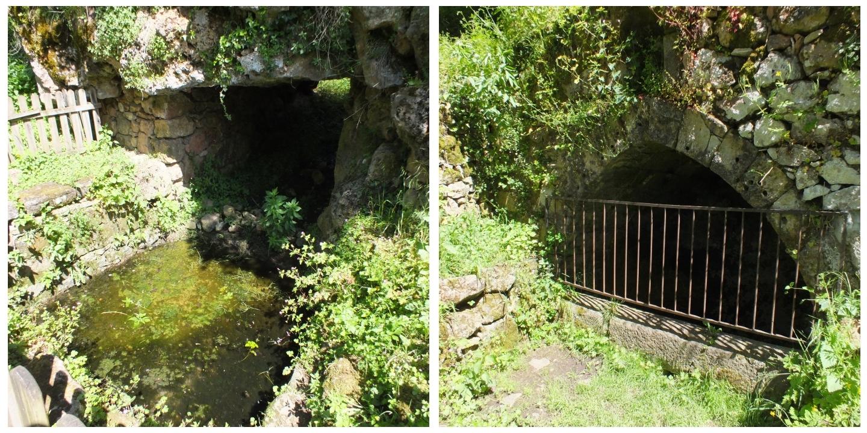 La fontaine de César & la fontaine romaine à Capdenac