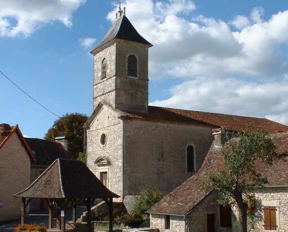 Église Saint-Gilles à Quissac dans le Lot