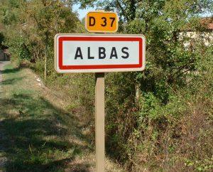 Communes - Albas - - - Panneau du village d'Albas