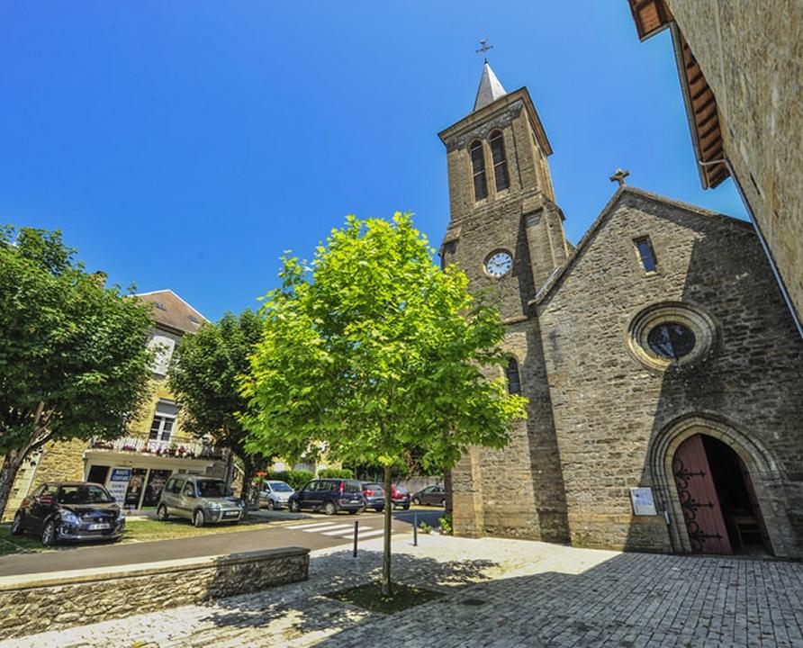 Circuits randonnée pédestre - Alvignac - Circuit le Bois des Jonquilles - 10km (L'église d'Alvignac)