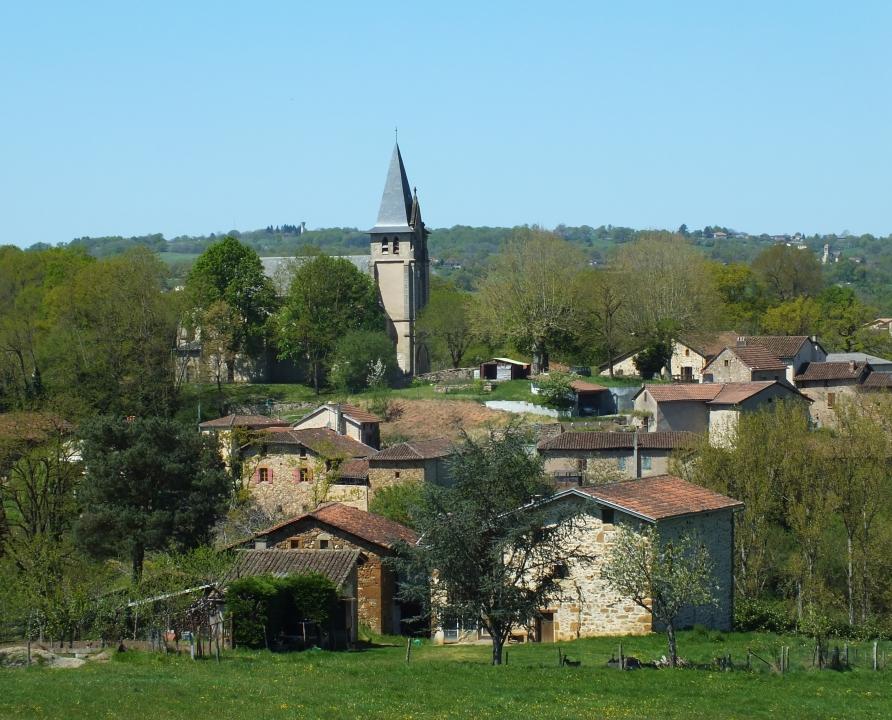 Circuits randonnée pédestre - Cuzac - Circuit de l'Eau du Moulin au Lavoir (boucle du Lot) - 17km (le bourg de Felzins)
