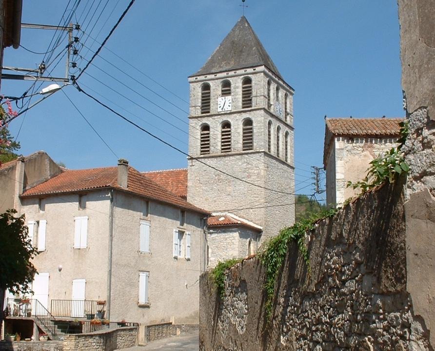 Circuits randonnée pédestre - Douelle - Circuit du point de vue - 5km (église Notre-Dame-de-l'Assomption à Douelle)