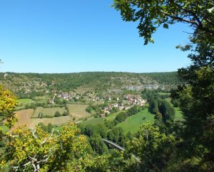 Circuits randonnée pédestre - Espagnac-Sainte-Eulalie - Vallée du Célé & Hameau de Crayssac - 16km (Point de vue de la Rouquette à Corn)