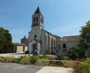 Circuit VTT - Flaugnac (Saint-Paul-Flaugnac) - Chemin des Vignes et Coeur de Village - 22km (Église du bourg de Flaugnac)