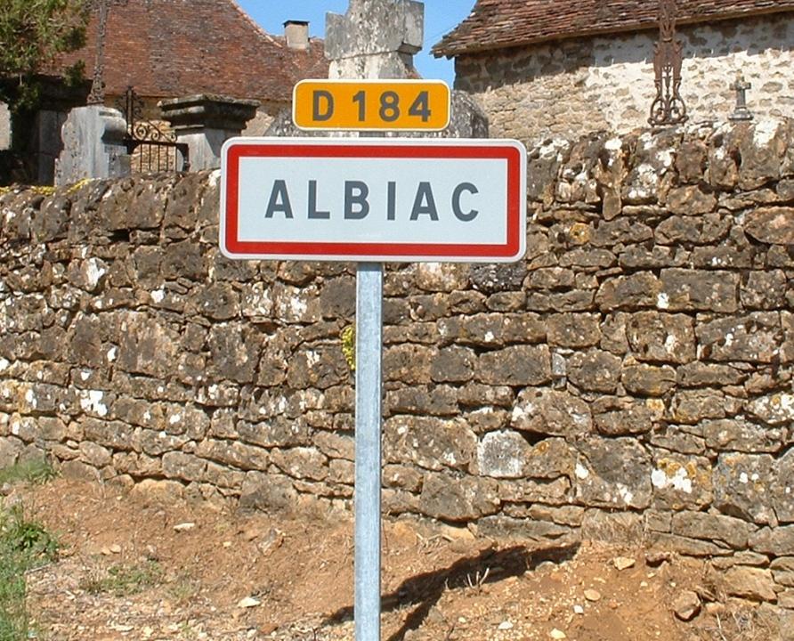 Communes - Albiac - - - Panneau du village d'Albiac