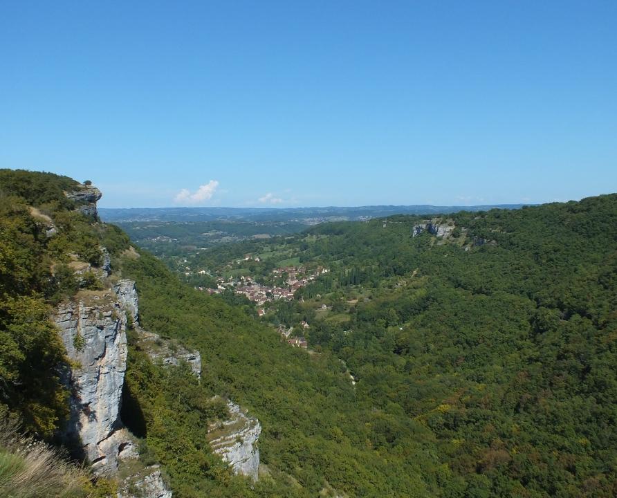 Points de vue - Autoire - Point de vue sur la vallée (Siran) -