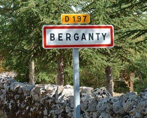 Communes - Berganty - - Panneau du village de Berganty