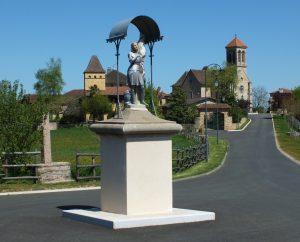 Monuments - Saint-Jean-Mirabel - Statue de Jeanne d'Arc -