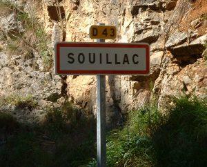 Communes - Souillac - - Panneau du village de Souillac
