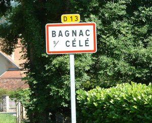 Communes - Bagnac-sur-Célé - - Panneau du village de Bagnac-sur-Célé