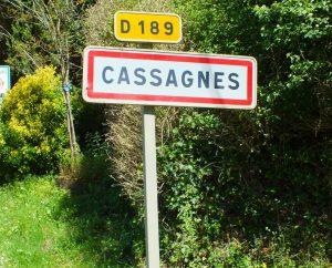 Communes - Cassagnes - - Panneau du village de Cassagnes