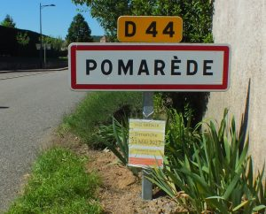 Communes - Pomarède - - Panneau du village de Pomarède