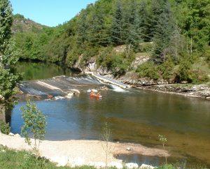 Baignade en eau douce - Cabrerets - Baignade du moulin sur le Célé -