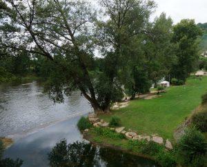 Baignade en eau douce - Castelfranc - Baignade municipale sur le Lot -