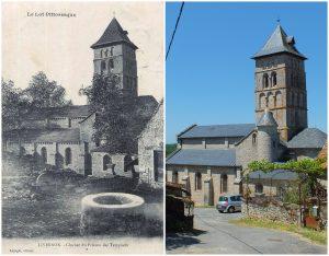 LOT'refois - CPA - début XXe - Photo 2015 - Livernon - Église Saint-Remy