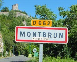 Communes - Montbrun - - Panneau du village de Montbrun