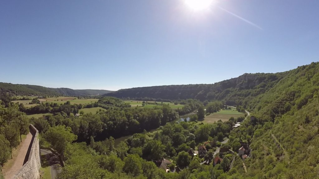 Points de vue - Montbrun - Point du vue sur la vallée du Lot depuis le belvédère -