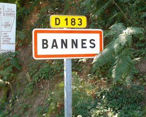 Communes - Bannes - - Panneau du village de Bannes