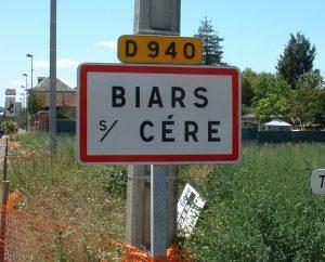 Communes - Biars-sur-Cere - - Panneau du village de Biars-sur-Cere