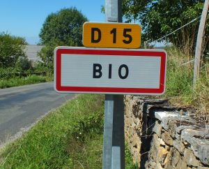Communes - Bio - - Panneau du village de Bio