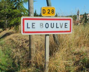 Communes - Le Boulvé - - Panneau du village de Le Boulvé