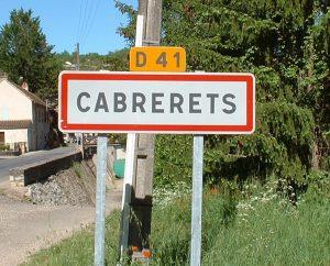 Communes - Cabrerets - - Panneau du village de Cabrerets