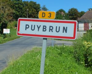 Communes - Puybrun - - Panneau du village de Puybrun