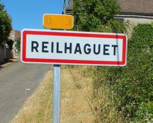 Communes - Reilhaguet - - Panneau du village de Reilhaguet