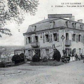 LOT'refois - Le buffet de la Gare de Figeac - CPA début XXe
