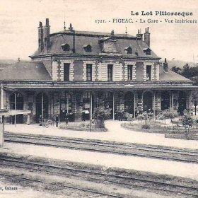 Gare ferroviaire de Figeac dans le Lot - Vue Sud-Ouest - LOT'refois - CPA début XXe