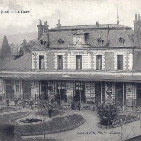 Gare ferroviaire de Figeac dans le Lot - LOT'refois - CPA début XXe