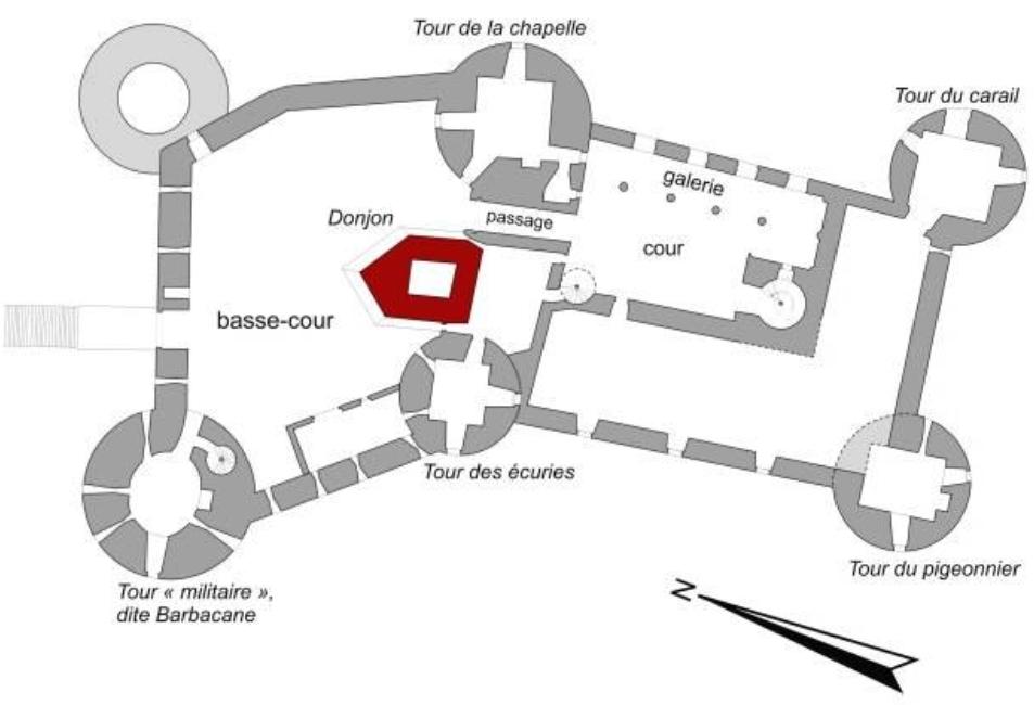 Plan du château de Roussillon