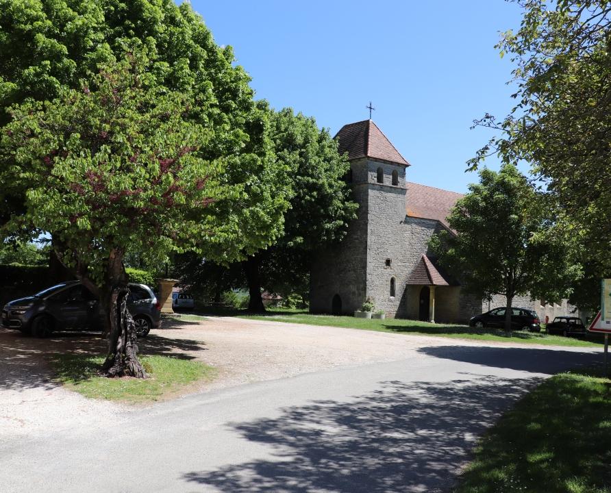 Circuits randonnée pédestre - Ginouillac - Le Chemin des Pechs - 13km (Église de Ginouillac)